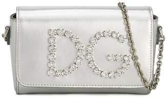 Dolce & Gabbana embellished logo shoulder bag