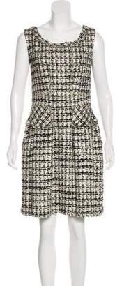 Oscar de la Renta Sleeveless Tweed Dress