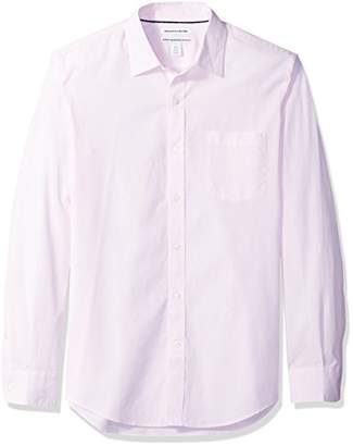 Amazon Essentials Men's Slim-Fit Long-Sleeve Poplin Shirt