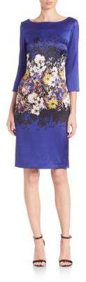 St. John Floral Silk Dress $1,095 thestylecure.com