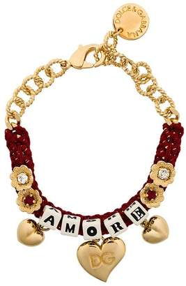 Dolce & Gabbana woven Amore bracelet