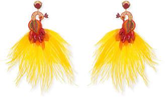 Ranjana Khan Passerine-Y Feather Drop Earrings