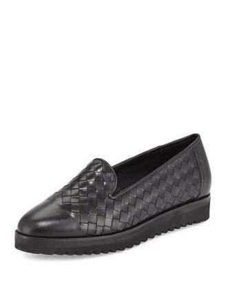 Sesto Meucci Naia Woven Leather Loafer, Black $284 thestylecure.com