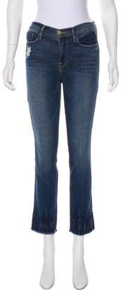 Frame Le High Straight Mid-Rise Jeans