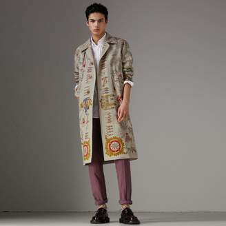 Burberry Sketch Print Car Coat