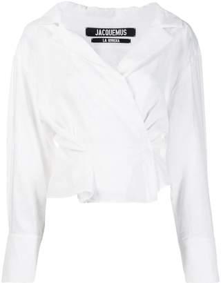 Jacquemus wrap blouse