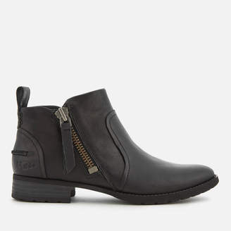 UGG Women's Aureo Full Grain Leather Flat Ankle Boots