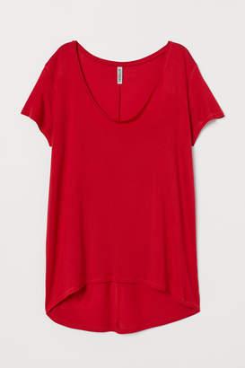 H&M V-neck Viscose Top - Red