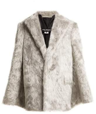 Junya Watanabe Split Sleeve Faux Fur Coat - Womens - Silver