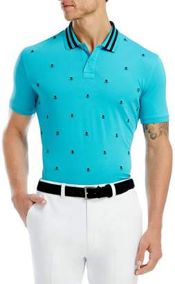 G/FORE Skull Embroidered Stretch Polo