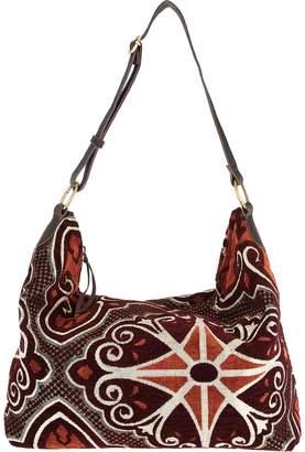 Mushmina Woven Pattern Hobo Bag w/ Leather Strap