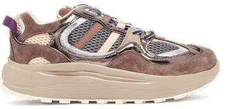 Eytys Jet Turbo Low Top Suede Trainers - Womens - Beige Multi