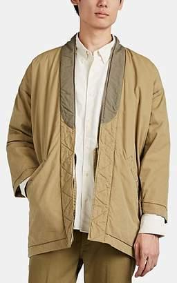 Visvim Men's Washed Cotton-Blend Canvas Kimono Jacket - Beige, Tan