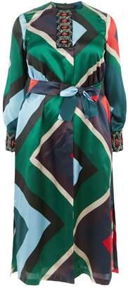 Marina Rinaldi Silk Embellished Neck Tunic