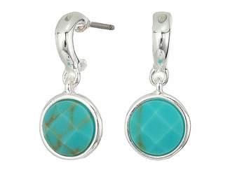 Lauren Ralph Lauren Turquoise Stone Huggie Earrings