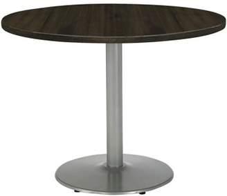 "LOFT KFI seating KFI Urban 30"" Round Top Table, Espresso, Round Silver Base"