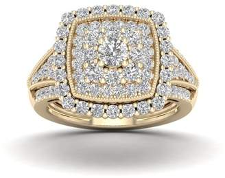 Imperial Star 1 1/2Ct TDW Diamond 14k Rose Gold Halo Engagement Ring