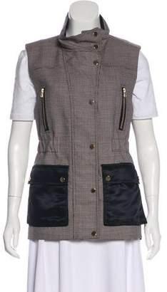 Veronica Beard Virgin Wool Houndstooth Vest w/ Tags