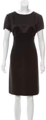 Giorgio Armani Short Sleeve Knee-Length Dress