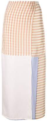 MM6 MAISON MARGIELA striped patchwork skirt