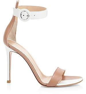 Gianvito Rossi Women's Leather Buckled Ankle Strap Sandals
