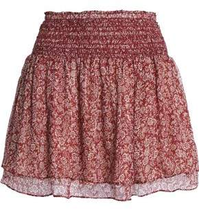 Vanessa Bruno Athe' Holly Metallic Floral-Print Silk-Blend Chiffon Mini Skirt