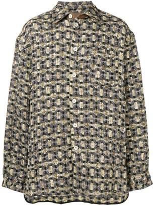 Marni embroidered long-sleeve shirt