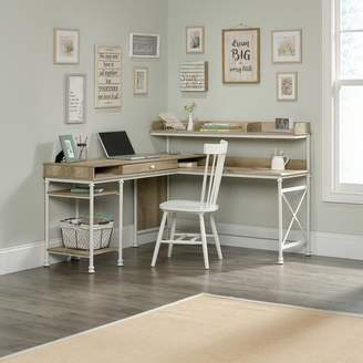 Three Posts Oakside L-Shape Executive Desk with Hutch