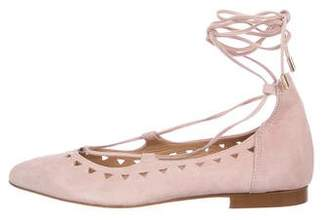 Barneys New York Barney's New York Wrap-Around Suede Flats