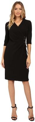 Christin Michaels Jullie 3/4 Sleeve Wrap Dress $104 thestylecure.com