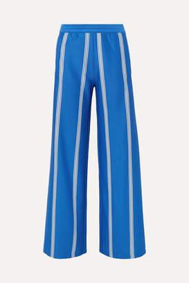 6e3a679461ab Tory Sport Striped Stretch-knit Wide-leg Track Pants - Blue