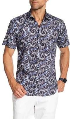 Jared Lang Swirl Print Short Sleeve Shirt