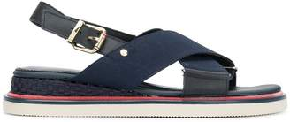 Tommy Hilfiger cross strap sandals