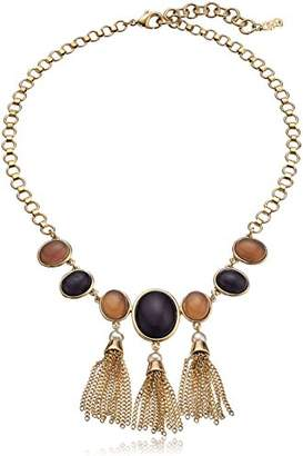 Cole Haan Multi-Stone Frontal Fringe Drama Necklace