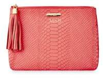 GiGi New York All-In-One Personalized Embossed Leather Clutch