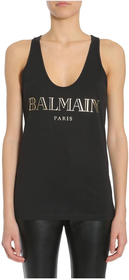 BalmainLogo Printed Tank Top