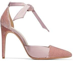 Alexandre Birman Knotted Crushed-Velvet And Satin Pumps