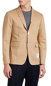 Thom Browne MEN'S COTTON THREE-BUTTON SPORTCOAT - BEIGE/TAN SIZE 2