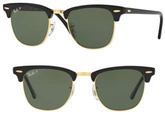 Ray-Ban 'Classic Clubmaster' 51mm Polarized Sunglasses