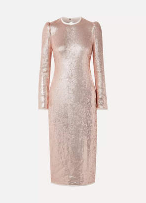 Rachel Zoe Jeane Open-back Sequined Crepe Midi Dress - Pink