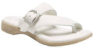 Eastland Leather Strap & Buckle Thong Sandals -