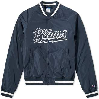 Champion X Beams Champion x Beams Nylon Varsity Jacket