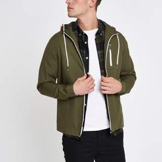 River Island Only and Sons khaki green hooded jacket