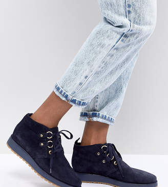 Tommy Hilfiger Suede Lace Up Ankle Boots