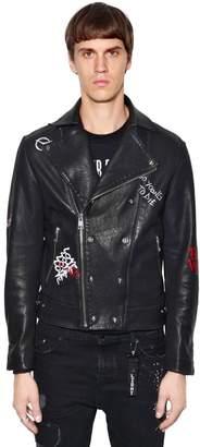 The Kooples Orlinski Co-Lab Leather Biker Jacket