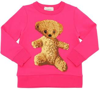 Gucci Bear Patch Cotton Sweatshirt