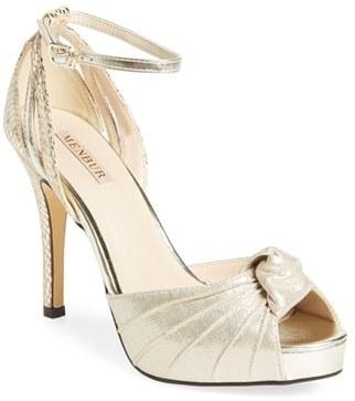 Women's Menbur 'Aguilera' Platform Peep Toe Sandal $124.80 thestylecure.com