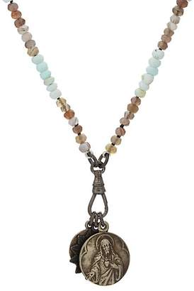 Miracle Icons Men's Vintage-Icon Beaded Necklace