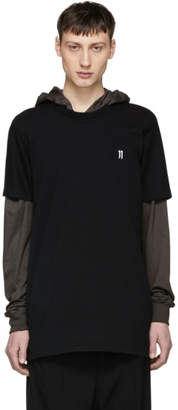 11 By Boris Bidjan Saberi Black Logo and Type T-Shirt