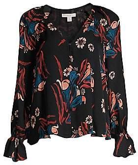 40182af373ed73 Joie Women s Boyana Floral Bell Sleeve Silk Blouse